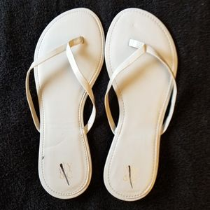 NY & C Gray Sandals Slip On Flat Size 8 New